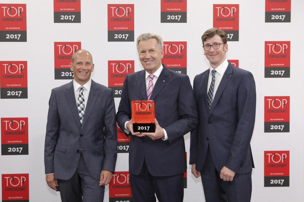 TOP CONSULTANT TOP BERATER für den Mittelstand 2017 Foto der Ehrung