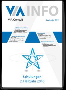 VIA Newsletter Schulungen zweites Halbjahr 2016