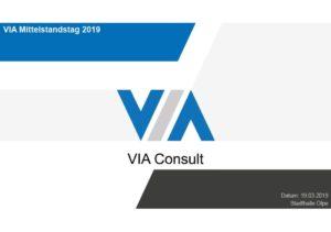 Alle Vorträge / Präsentationen vom VIA Mittelstandstag 2019